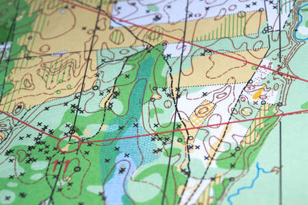 The existing sports card orienteering. Sport combines the desire to win respect for nature.