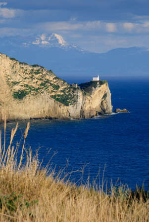 Naples, view of the Capo Miseno lighthouse 版權商用圖片 - 97755070