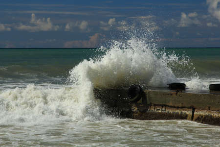 Sea storm  Stock Photo