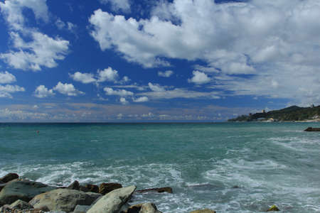 Coast of the tropical resort  Stock Photo