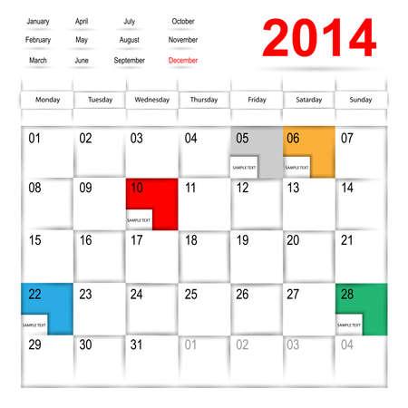 calendar design: Calendar design  Illustration