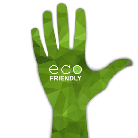 green thumb: Hand eco symbol  Illustration