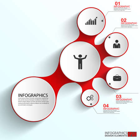 business concept: Abstract paper infographic