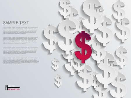 money background: Dollar sign background Illustration