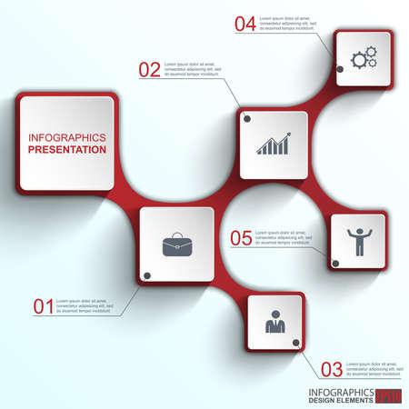 Infografica modello di disegno vettoriale