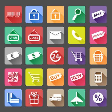Set shopping icons Vector