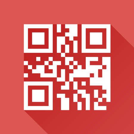 bar codes: Flat qr code