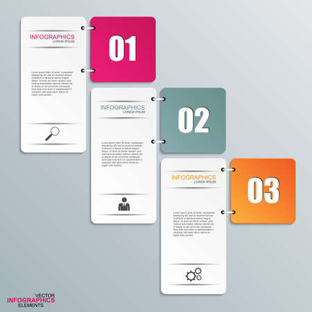 graphics: Abstract 3D paper Infographic