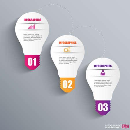 teaching education: Infographics lightbulb design template