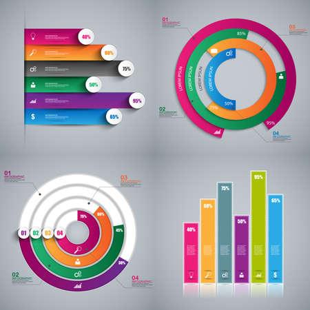 Set of Infographics vector design template