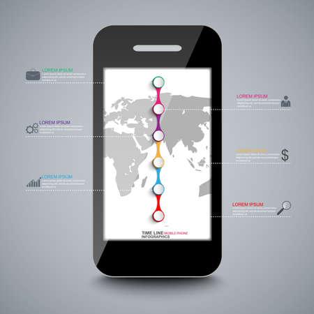 business trends: Infographics vector design template