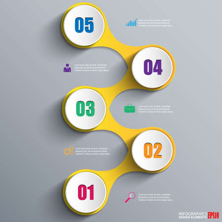 circle chart: Infographics vector design template