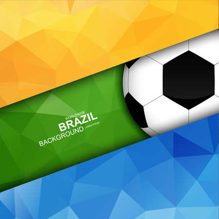 Geometric background flag in Brazil  Vector