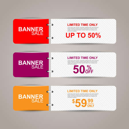website banner: Sale banners