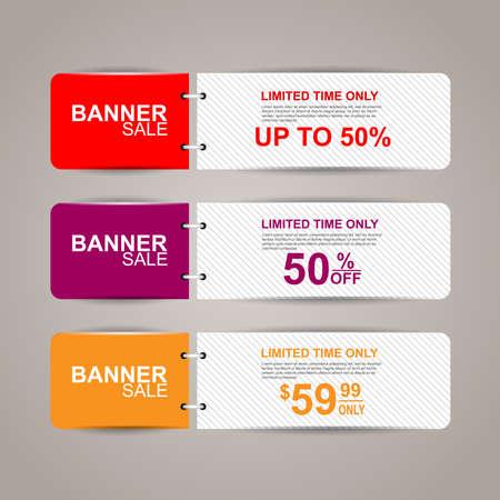 Verkoop banners