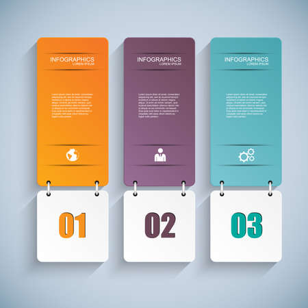 information graphics: Abstract 3D paper Infographic  Illustration