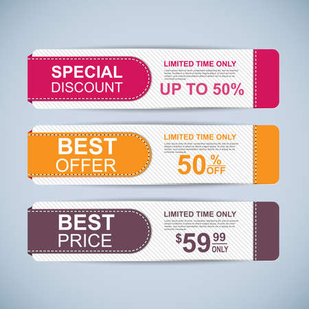Collection sale banners Vector