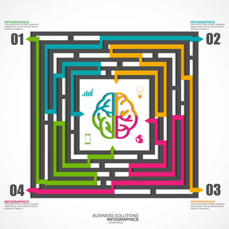Infographics labyrinth business solutions Vector