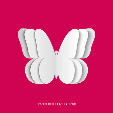 Isolated paper butterfly Vector