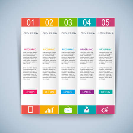 web elements: Infographics design template Illustration