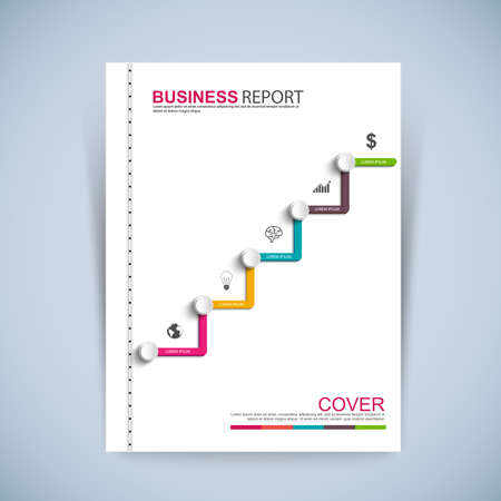 report cover design: Cover Book Digital Design Minimal Style Template Illustration
