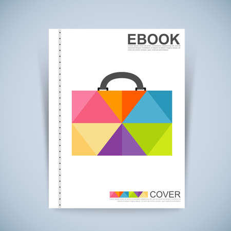 Cover Book Digital Design Minimal Style Template Illustration