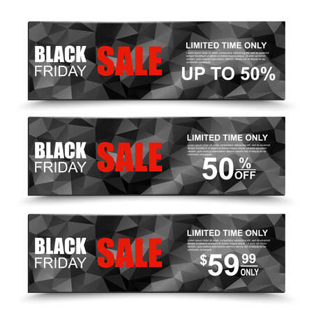 Black Friday collection sale banner Vector