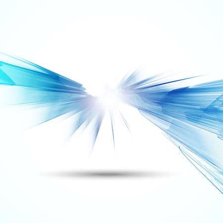 azul: Fundo abstrato ondulado futurista Ilustração