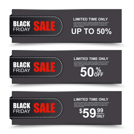 Black Friday collection sale banner Reklamní fotografie - 32502041
