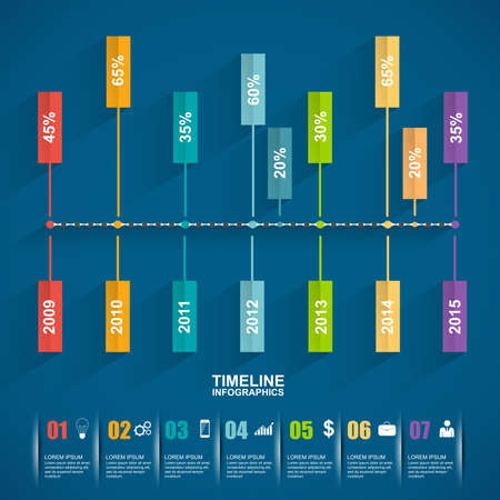 show time: Timeline Infographic design template