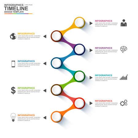 Infographics design template Vettoriali