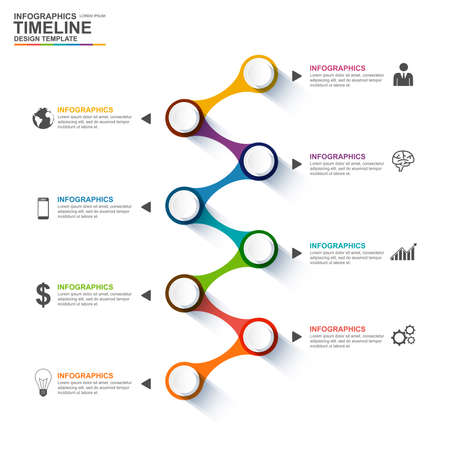 workflow: Infographics design template Illustration