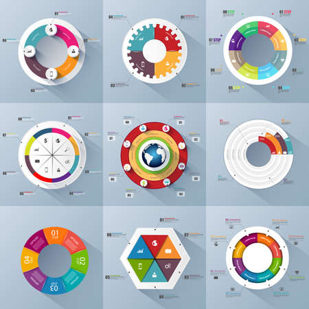 Set of Infographics design template Vector