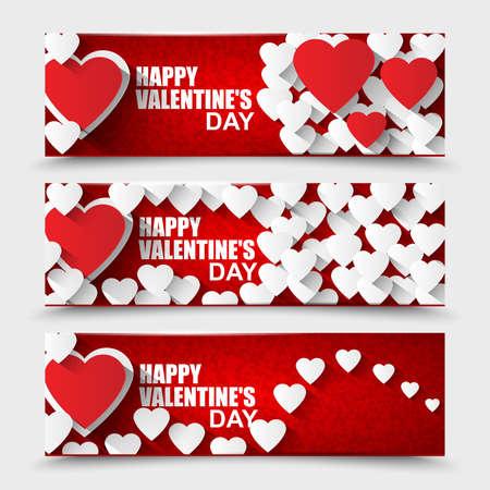 Kolekce Šťastný Valentines Day bannery