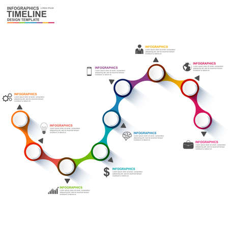 timeline: Infographics vector design template