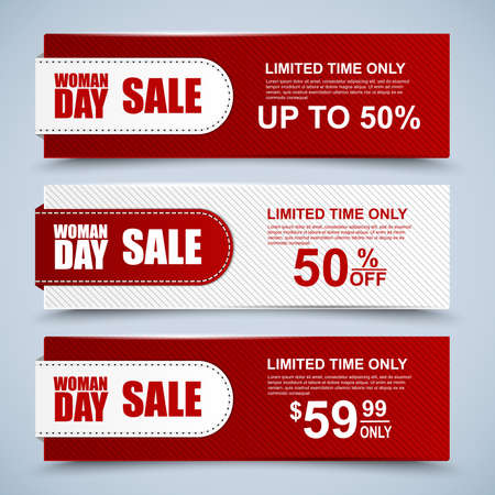 Womans Day collection sale banners