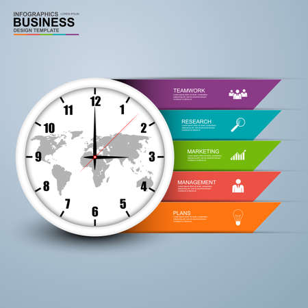 Abstract 3D digital business circle Infographic