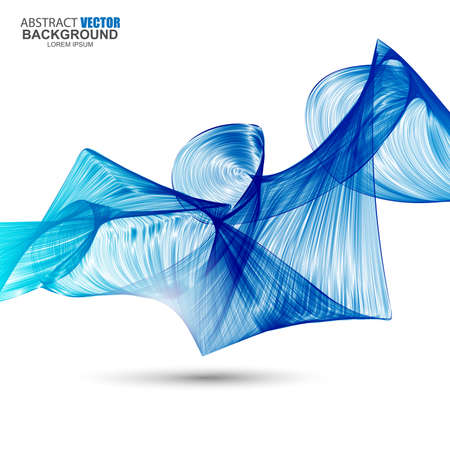 Abstract blue futuristic wavy background