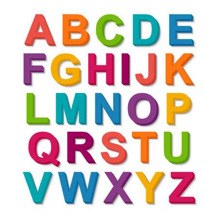 Set of 3D colorful alphabet Reklamní fotografie - 38688471