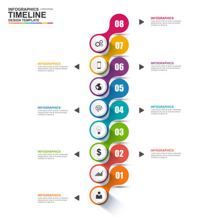 zeitplan: Infografik Vektor-Design-Vorlage Illustration