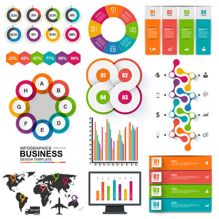 Set of Infographics vector design template Vector