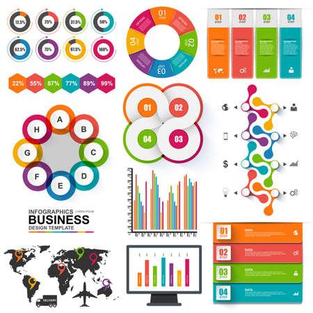 Set of Infographics vector design template Vector