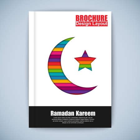 Modern ramadan kareem brochure vector design template Vector