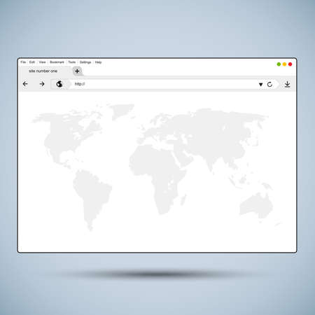 Vector flat browser design