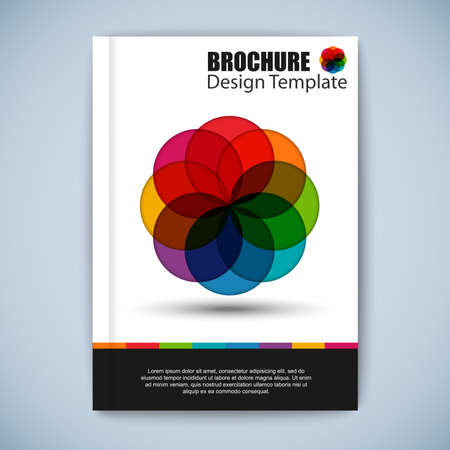 Modern colorful abstract brochure vector design template Vector