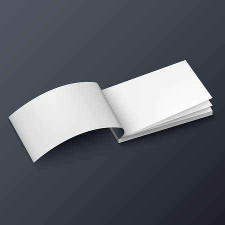 Notepad booklet business card or brochure mockup template Ilustrace
