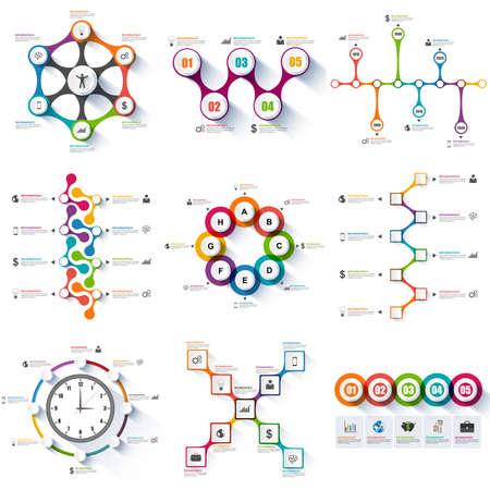 zeitplan: Set von Infografiken Vektor Entwurfsvorlage