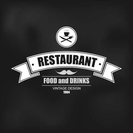 insignias: Logotipo insignia retro del vintage para el restaurante de etiqueta o insignia del vector plantilla de diseño Vectores