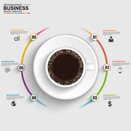 Abstract 3D digital business timeline Infographic