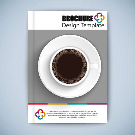 online book: Cover Book Digital Design Minimal Style Template Illustration